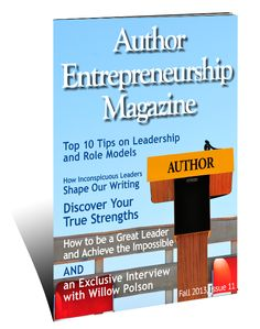 Welcome to the Fall 2013 issue of the Author Entrepreneurship Magazine blog - Writer's Fun Zone