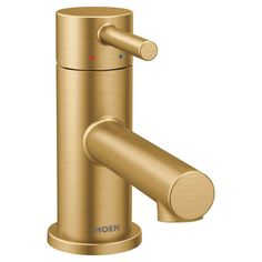 Moen 6191 Align GPM Single Hole Bathroom Faucet with Pop-Up Drain Assembly Brushed Gold Faucet Bathroom Sink Faucets Single Handle Gold Bathroom Faucet, Widespread Bathroom Faucet, Gold Faucet, Bathroom Drain, Bathroom Plumbing, Custom Countertops, Bathroom Pictures, Bathroom Ideas, Bath Ideas