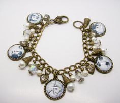 Fornasetti Altered Art Charm Bracelet by freakchicboutique on Etsy