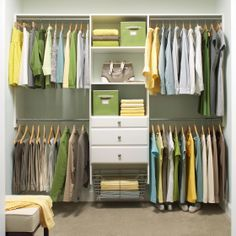 Would love to have this type of closet organization system in our new house. 4 Ways to Think Outside the Closet