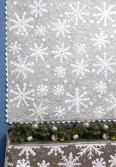 Snowflake quilt and dresser topper by Pat Wys |  Spotlight on Neutrals at Martingale