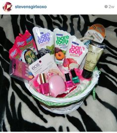 Very great idea give your wife an easter basket with make up and very great idea give your wife an easter basket with make up and chocolate someone please tell my husband i prefer mac holiday ideas pinterest negle Gallery