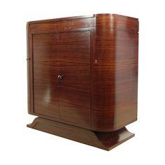 <ul><li>Cocktail+Cabinet</li><li>Rosewood+and+Birds+Eye+Maple</li><li>c1930</li><li>Height:103cm</li><li>Width:+193cm</li><li>Depth:+49cm</li><li>Note+that+the+width+is+when+open+as+you+would+need+this+space</li></ul>