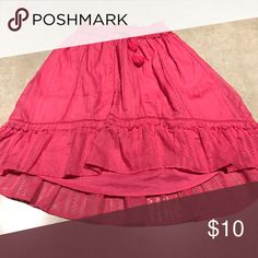 Skirt size xl Bright pink skirt...above the knees size xl. New without tags. Smoke n pet free home Aeropostale Skirts Midi