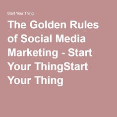 The Golden Rules of #SocialMedia Marketing | podcast with @WarrenWhitlock | #SMM | @StartYourThing podcast with Monique Welch | Start Your Thing