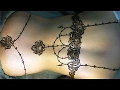 #hennaeasy #hennanight Back henna tattoo tutorial Tattoo Tutorial, Henna Tutorial, Simple Henna Tattoo, Henna Tattoo Designs, Mehndi, Thigh Henna, Back Henna, Tattoo 2017, Party Tattoos
