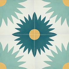 designed by erin adams Cement Tiles - Kotka 809 A 8 x 8 Deco - By Granada Tile Floor Patterns, Tile Patterns, Textures Patterns, Granada, Tile Design, Fabric Design, Concrete Tiles, Concrete Floor, Encaustic Tile