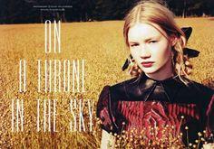 leith clark by ellen von unwerth for lula magazine october 2012.
