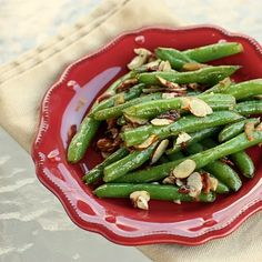 Figured I better throw one semi-healty recipe in here. These Green Beans with Bacon and Almonds are a treat.