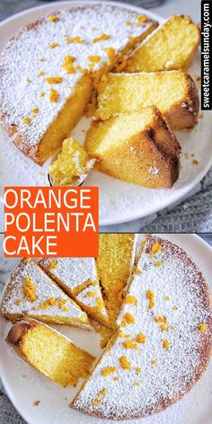 Gluten Free Orange Polenta Cake recipe is easy to make, tasting delicious. Simple ingredients with fresh orange juice in the cake! Orange Juice Cake, Orange And Almond Cake, Citrus Cake, Easy Cake Recipes, Sweet Recipes, Baking Recipes, Dessert Recipes, Orange Recipes Easy, Polenta Cakes