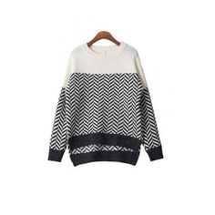 High-low Hem Zigzag Sweater ($30) ❤ liked on Polyvore featuring tops, sweaters, yoins, black sweater, black top, snug top, zig zag top and zig zag sweater