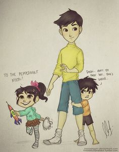 Big Hero 6 and Wreck-It Ralph crossover! Vanellope, Hiro and Tadashi Hamada. First Impression by hanaekaptr on DeviantArt