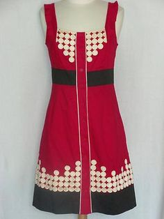 ON SALE FLOREAT Anthropologie Sweet-as-Pie Dress 6 RARE Cotton Button Front NEW $79.95 SOLD