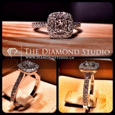 This client wanted one of my halo designs and was working with a very tight budget for a halo. This is what I came up with for him. His budget was 2500.00. It turned out amazing. This is what I do. #diamond #diamonds #wedding #weddings #engagementring #engagement #ring #rings #bride #brides #jewellery #jewelry #halo #thediamondstudio