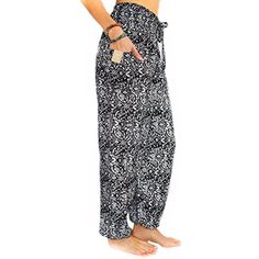 Pi Yoga Pants - Women's Boutique Lounge and Bohemian Yoga Pants, Scrunched Bottom (Stretches from US size 0-12) >>> Details can be found by clicking on the image. (This is an affiliate link) #Clothing