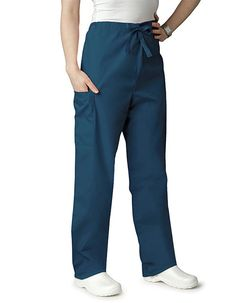 Adar Universal Unisex Natural-Rise Drawstring Tapered Scrub Leg Pants - 504 - Teal Blue - M, Black Leg Scrub, Scrub Pants, Harem Pants, Pajama Pants, Petite Pants, Drawstring Waist, Scrubs, Sweatpants, Legs