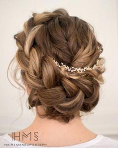 Boho crown braided updo by Stephanie Brinkerhoff