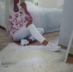 Pink~weiß ~Rosen ●