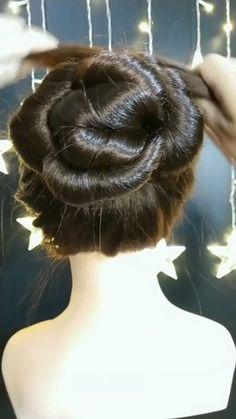 Hairdo For Long Hair, Bun Hairstyles For Long Hair, Braided Hairstyles, Front Hair Styles, Medium Hair Styles, Natural Hair Styles, Hair Style Vedio, Hair Tutorials For Medium Hair, Bridal Hair Buns