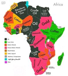 World Commodities Map: Africa Sums up why there is a lot of conflict, so many natural resources. The exploiter's view of Africa. World Geography, Geography Map, Geography Quotes, Geography Classroom, Geography Lessons, Teaching Geography, Ap Human Geography, Black History Facts, Crude Oil