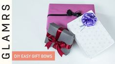 DIY Easy Handmade Ribbon Gift Bows - YouTube