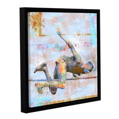 Jump by Greg Simanson Floater Framed Graphic Art on Wrapped Canvas