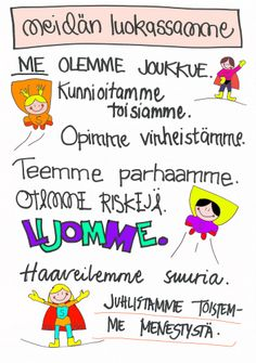 Meidän luokassamme - super-ME! Pre School, Back To School, I Am Statements, Teaching Aids, School Classroom, Team Building, Social Skills, Classroom Management, Special Education