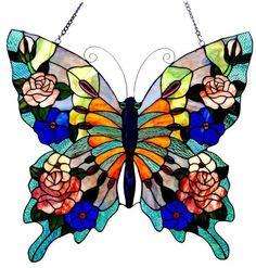 Tiffany Butterfly Window Panel