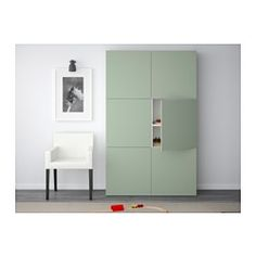 BESTÅ Storage combination with doors - Lappviken green - IKEA