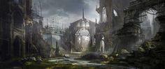 art of city ruins | cathedral-in-keats | Coolvibe - Digital ArtCoolvibe – Digital Art