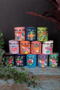 Kashmiri Spice Tin – Ian Snow Ltd Canister Sets, Canisters, Stainless Steel Paint, Eid Festival, Spice Tins, Cottage Crafts, Tea Tins, Vintage Tins, Gadgets