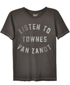 I must have this immediately!  Midnight Rider Black Listen To Townes Tee