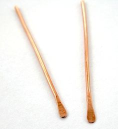 How to make paddle headpins #Wire #Jewelry #Tutorials