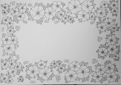 Flowers for Colouring in. By mindful colouring.com