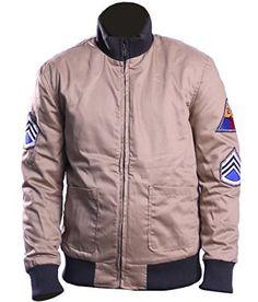 Brad Pitt Fury Celebrity Jacket for Men's at Amazon Men's Clothing store: