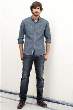 Buy Chambray Jacquard Shirt from the Next UK online shop