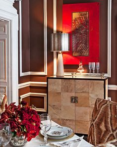 Cute Showhouse Rooms with Red Accents Traditional Home
