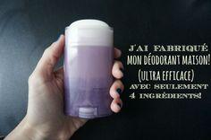 J'ai fabriqué mon déodorant naturel fait maison et il est super efficace! même plus efficace que les déodorants du commerce!