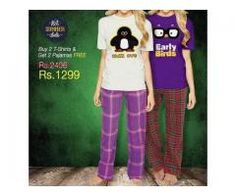 Buy 2 T-shirts And Get 2 Pajamas Free Just In 1299 Cash On Delivery