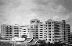 Obras do Hospital das Clínicas em 1939, durante a gestão do Governador Adhemar de Barros