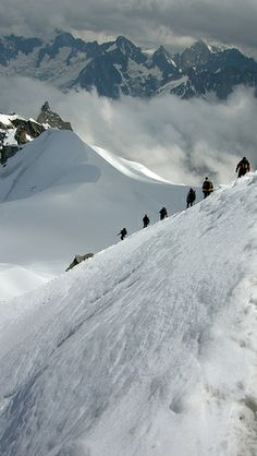 Skiing the Beautiful Mont Blanc Massive, France