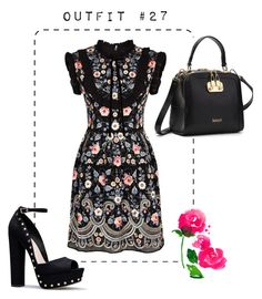 """Outfit #27"" by caroluemura on Polyvore featuring moda, Needle & Thread e L'Agence"