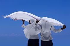 Veiled girls at Nungwi beach, Zanzibar, Tanzania by Eric Lafforgue, via Flickr