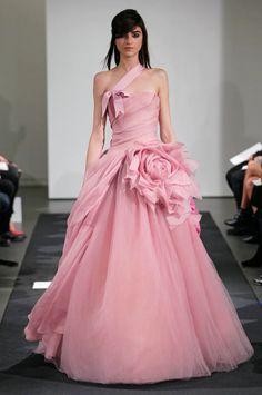 pink color wedding dresses