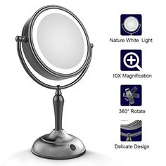 Novelty & Special Use Led Touch Screen Rotatable Bluetooth Operated Makeup Mirror 10x Magnifying Usb 2 Led Bars Music Cosmetic Table Desktop Mirror