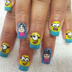 Minions Nails 2013/ 2014 | Despicable Me 2 Nail Art Designs | Fabulous Nail Art Designs