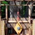 Outdoor CaliStandard Natural bamboo fence shower