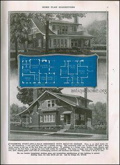 Decorating Your American Bungalow Style House Craftsman Style Homes, Craftsman Bungalows, Small House Plans, House Floor Plans, Vintage House Plans, Vintage Homes, Victorian Homes, Cottages And Bungalows, Tadelakt