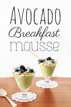 RAW Avocado Breakfast Mousse Recipe