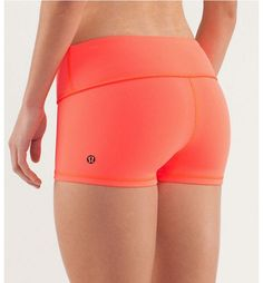 I'm obsessed with Lulu Lemon yoga shorts. They are the comfiest workout shorts EVER EVER EVERRRRRRRRR